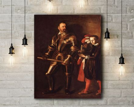 Caravaggio: Portrait of Alof de Wignacourt. Fine Art Canvas.